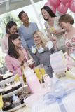 Happy Women At A Baby Shower Stock Image