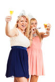 Happy women celebrating party Stock Images