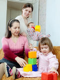 Happy women  with children Stock Image