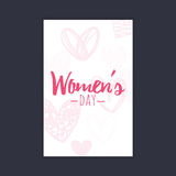 Happy women Day. Abstract women day card on a black background Stock Photography