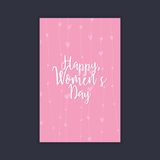 Happy women Day. Abstract women day card on a black background Stock Photo