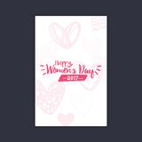 Happy women Day. Abstract women day card on a black background Royalty Free Stock Photo