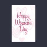 Happy women Day. Abstract women day card on a black background Royalty Free Stock Photos