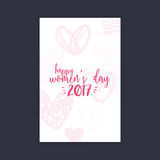 Happy women Day. Abstract women day card on a black background Royalty Free Stock Image