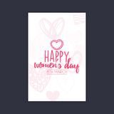 Happy women Day. Abstract women day card on a black background Stock Photos
