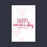 Happy women Day Royalty Free Stock Photography