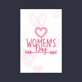 Happy women Day. Abstract women day card on a black background Royalty Free Stock Images