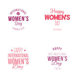 Happy Women Day. Abstract happy women day labels on a white background Royalty Free Stock Photography