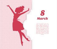Happy Women Day background Stock Images