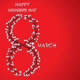 Happy women day design Stock Photography