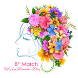 Happy Women Day greetings background Royalty Free Stock Image