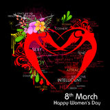Happy Women Day greetings background Stock Photography