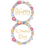 Happy women day holiday greeting card design Stock Photography