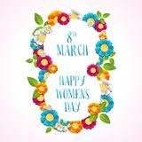 Happy Women day illustration Stock Photography