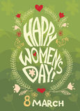 Happy women day,  march 8 Royalty Free Stock Image