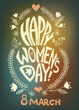 Happy women day,  march 8 Royalty Free Stock Photography