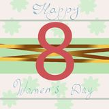 Happy Women Day. Violet 8 March. papercut multi layered abstract background. Happy Womens Day. Violet 8 March. Trendy Mother s Day. Paper cut Floral Greeting Stock Image