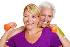 Happy women in fitness center Royalty Free Stock Photos