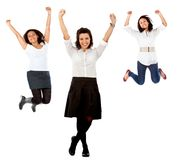 Happy women full of joy Royalty Free Stock Photo