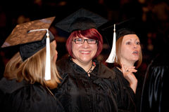 Happy Women on Graduation Day Royalty Free Stock Photography