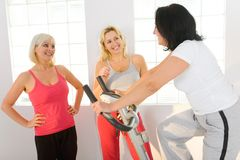 Happy women at gym Stock Image