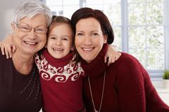 Happy women with little girl Stock Photography
