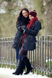 Happy Women at the Park Having Fun Together Stock Image