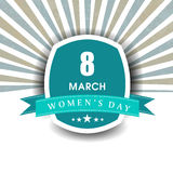 Happy women's day. Royalty Free Stock Photography