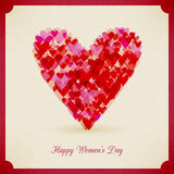Happy women's day Background paper card Royalty Free Stock Photos