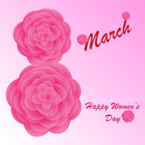 Happy Women's Day background Royalty Free Stock Photography
