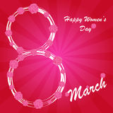 Happy Women's Day background Stock Photos