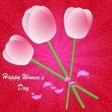 Happy Women's Day background Stock Image