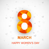 Happy Women's Day background with text 8th Marc Stock Images