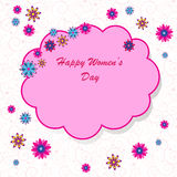 Happy Women's Day background Stock Photography
