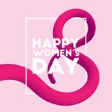 Happy Women`s Day blended interlaced fluid background. March 8. Happy Women`s Day blended interlaced fluid background. Trendy vector liquid 3d figure eight for Royalty Free Stock Image