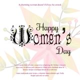 Happy Women\'s day card with light background vector. For web design and application interface, also useful for infographics. Vector illustration Stock Photos