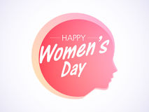Happy Womens Day celebration with girl face. Royalty Free Stock Photography