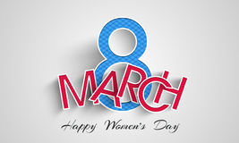 Happy Women's Day celebration with paper text. Stock Image