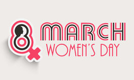Happy Womens Day celebration poster or banner. Poster, banner or flyer with silhouette of woman face and female symbol for Happy Womens Day celebration Stock Photography
