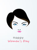 Happy Womens Day celebration with young girl face. Royalty Free Stock Image