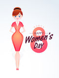 Happy Women's Day celebration with young girl. Royalty Free Stock Photos