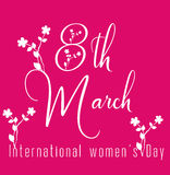 Happy Women's Day celebrations concept with stylish pink text Royalty Free Stock Image