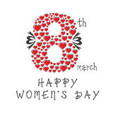 Happy women's day Stock Images