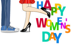 Happy Women's Day Design Element, Women's Day background Stock Photo