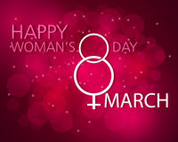 Happy Women s day. Design omposition Women s Day on a bright background. eps10 Royalty Free Stock Photos