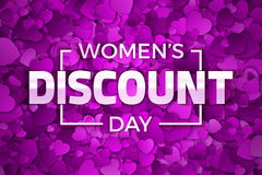 Happy Women`s Day Discount Vector Illustration Stock Photography