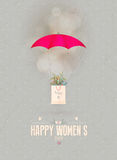 Happy Women's Day gift card Stock Photography