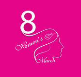 Happy Women's Day greeting card background for lady face Royalty Free Stock Photography