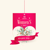 Happy Women's Day Greeting Card Design Stock Image