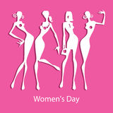 Happy Women's Day greeting card. Illustration of Happy Women's Day concept stock illustration